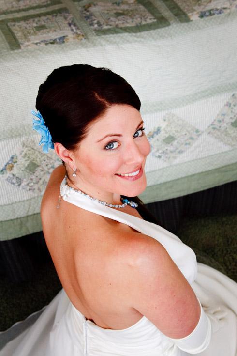 Meghan before her wedding