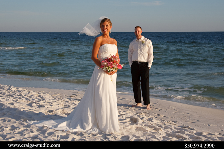 As close to a formal beach wedding portrait as it got