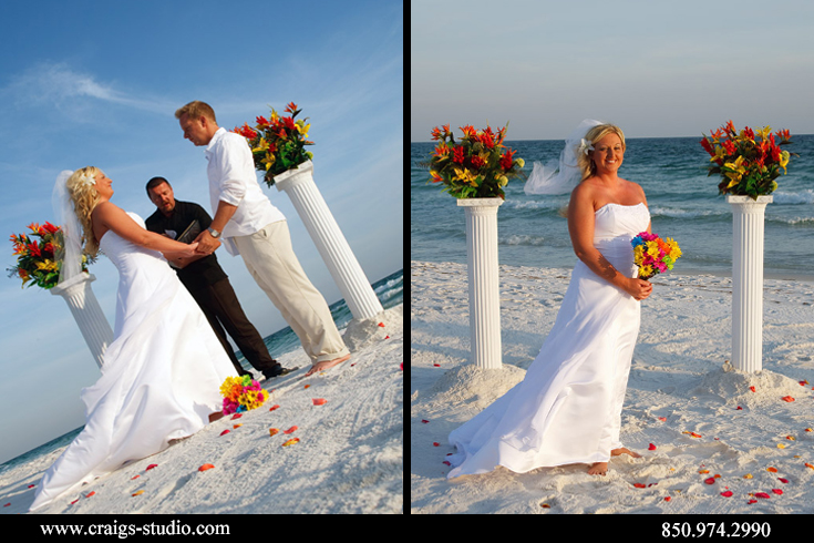 Wedding ceremony by Sugar Beach Weddings