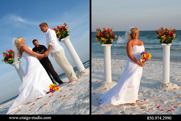 Wedding ceremony by Sugar Beach Weddings