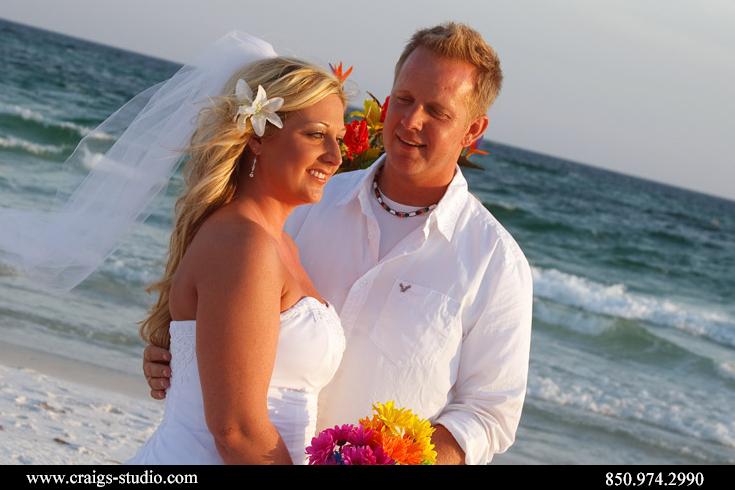 Wedding portraits on the beach