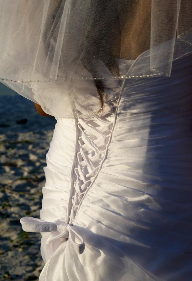Wedding dress at Navarre Beach